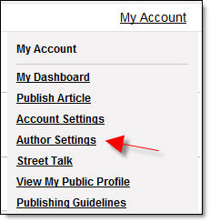 Author Settings - StreetArticles.com