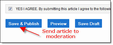 Save and Publish Article - Street Articles