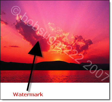 Example of a watermark based image